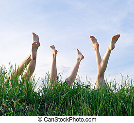 pieds, filles