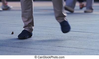 pieds, grand plan, danse