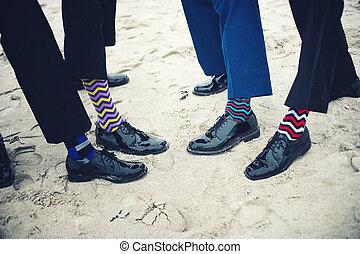 pieds, groomsmen, groom's
