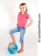 pieds, mondiale, elle