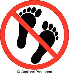 pieds, nu, non