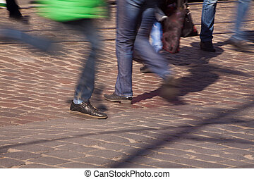 pieds, piétons, passage clouté