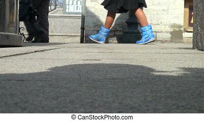 pieds, piétons, passers-
