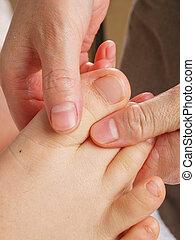 pieds, thérapie