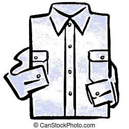 piegato, camicia, affari