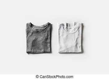 piegato, t-shirts, vuoto