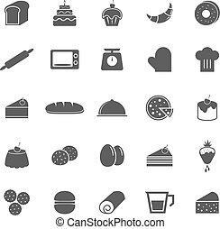 piekarnia, białe tło, ikony