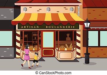 piekarnia, francuski, zaopatrywać
