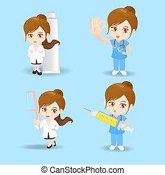 pielęgnować, doktor kobiety