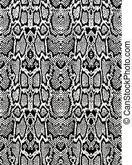 piel, patrón, serpiente negra, seamless, texture., pitón, fondo., blanco