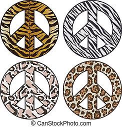 piel, señal, patrón, animal, paz