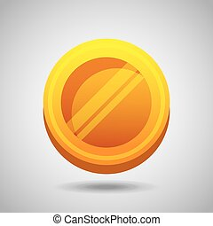 pieniądz, złoty, ikona