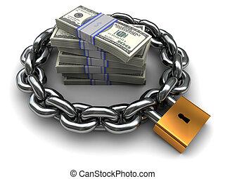 pieniądze, bezpieczny
