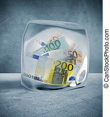 pieniądze, cena, marznąć