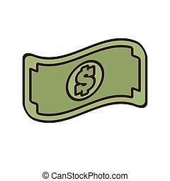 pieniądze, halabarda, dolar, gotówka, rysunek, ikona