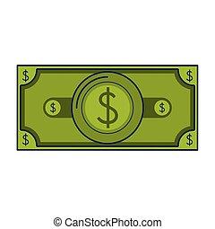pieniądze, halabarda, zbawczy, gotówka, rysunek