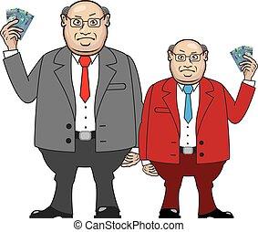 pieniądze, handlowiec