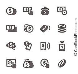 pieniądze, ikony