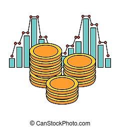 pieniądze, monety, statystyka