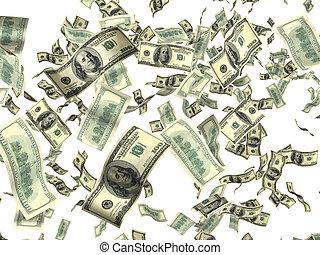 pieniądze, na białym
