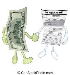 pieniądze, pożyczka, zastosowanie, uzgodnienie
