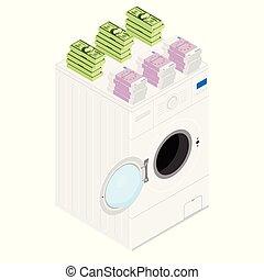 pieniądze pralnictwo, concept.