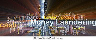 pieniądze pralnictwo, tło, pojęcie, jarzący się