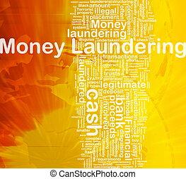 pieniądze pralnictwo, tło, pojęcie