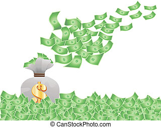 pieniądze, przelotny