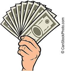 pieniądze, ręka