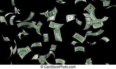 pieniądze, spadanie, pętla