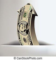 pieniądze, strzała, tło