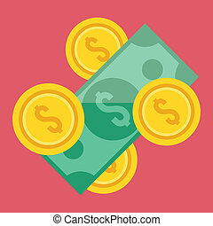 pieniądze, wektor, ikona