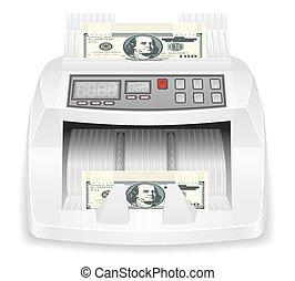 pieniądze, wektor, pień ilustracja, kantor