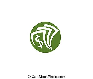 pieniądze, wektor, szablon, logo