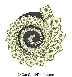 pieniądze, wir, czarny otwór
