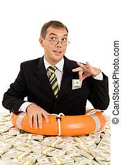 pieniądze, wnętrze, człowiek