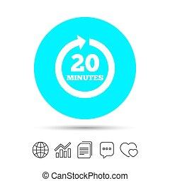pieno, 20, segno, arrow., ogni, icon., verbale, rotazione