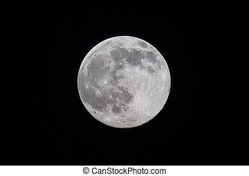 pieno, cielo, luna, notte