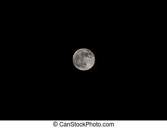 pieno, closeup, luna