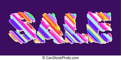 pieno, colorare, luminoso, vendita, bandiera, su, uno, scuro, viola, fondo.