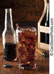 pieno di bolle, rinfrescante, pop, soda