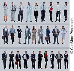 pieno, gruppo, persone, isolato, grande, lunghezza, white.