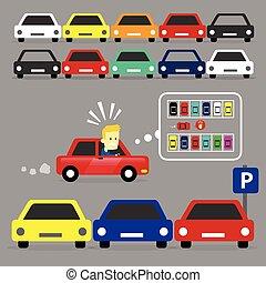 pieno, lotto, parcheggio