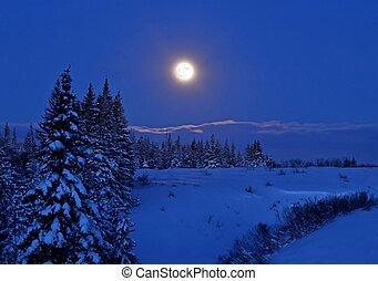 pieno, neve, luna