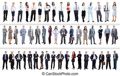 pieno, persone affari, ritratti, collezione, lunghezza