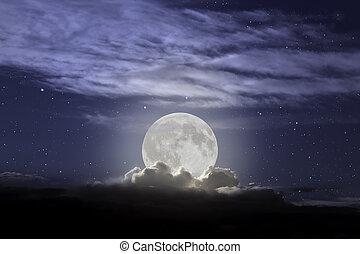 pieno, salita, luna