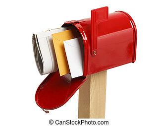 pieno, sopra, cassetta postale