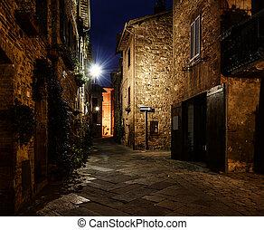 Pienza city street