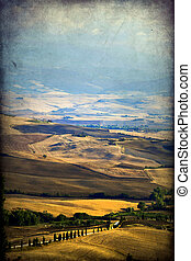 Pienza  - Pienza, Tuscany, Italy. Landscape